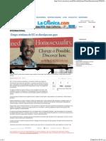 Grupo Cristiano de EU Se Disculpa Con Gays
