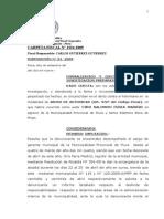 Formalización de Investigación Preparatoria Abuso de Autoridad Ciro Feria 428 2009