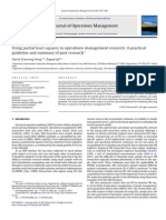 Using PLS in Operations Management Research-A Practical Guideline and Summary of Past Research