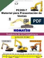 Material Presentacion Ventas Excavadora Hidraulica Pc200 7 Komatsu Galeo