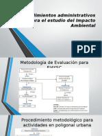 Procedimientos Administrativos Para El Estudio Del Impacto Ambiental