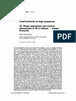 Water/n-alkane phase behavior