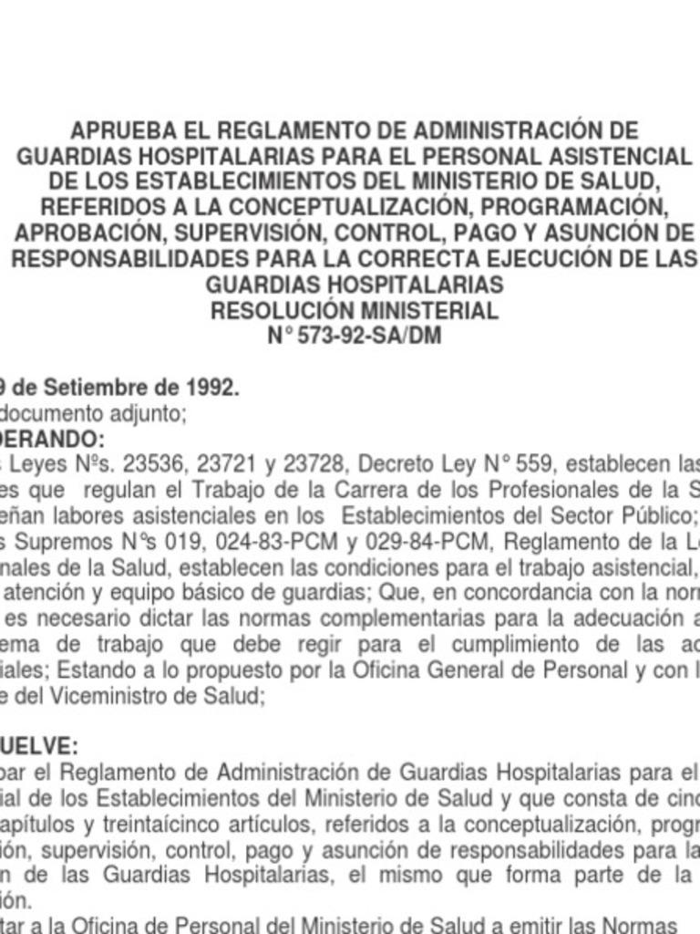 RM 573-92-SA-DM-Reglamento de Guardias-Alimentos ...