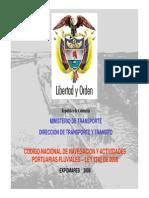 Código Nacional de Navegación y Actividades Portuarias Fluviales