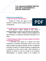 GUÍA PARA EL SEGUNDO EXAMEN PARCIAL DE DERECHO DE LA INFORMÁTICA