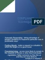 Social Influence - Compliance Techniques