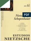 Estudios Nietzsche 3 Nietzsche y Schopenhauer