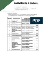 Bases de convocatoria CAS - Miraflores