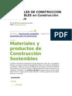 MATERIALES DE CONSTRUCCIÓN SOSTENIBLES en Construcción sostenible.docx