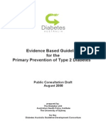 Primary Prevention of Diabetes Guideline