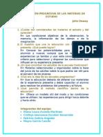 Organización Progresiva de Las Materias de Estudio