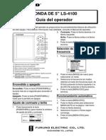 Guia Operación Ecosonda Furuno LS-4100 (Español)