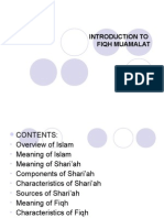 Introduction to Fiqh -Isb 542