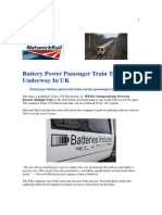 Battery Power Passenger Train Trial Now Underway in UK