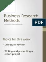 Business Research Methods Week 2