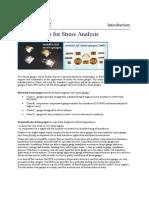 Strain Gauge for stress analysis