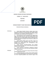 UU Nomor 18 Tahun 2003 Tentang Advokat