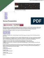 Korean Pronunciation Guide