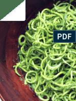 Spaghetti de Courgettes Au Pesto à l'Avocat