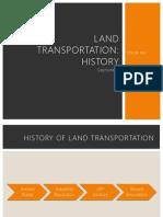 land transportation history