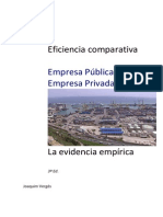 Eficiencia Comparativa Empresa Publica vs Privada La Evidencia Empirica