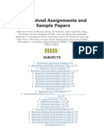 SCDL Solved Assignments and Sample Papers