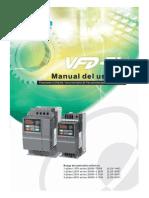 Manual Variador Delta VFD-EL