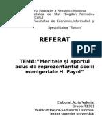 Referat Henri Fayol