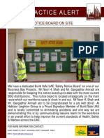 61 Bsu Best Practice Alert - Safety Notice Board on Site