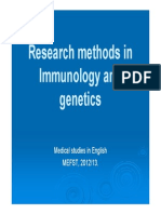 Research Methods in Immunology