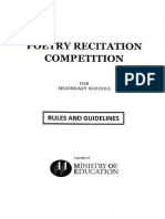 2015 Poetry Recitation Competition Secondary