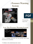 Low Tire Pressure Warning System