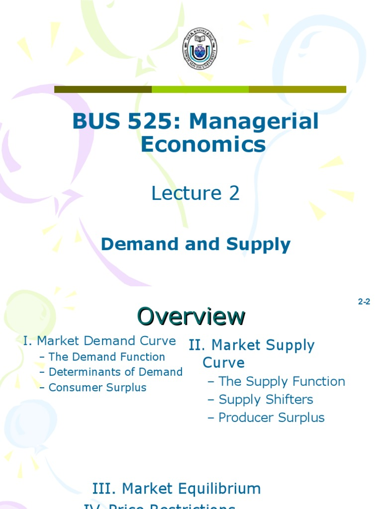 determinants of demand in managerial economics