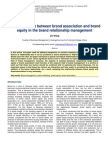 The Relationship Between Brand Association and Brand Equity in the Brand Relationship Management