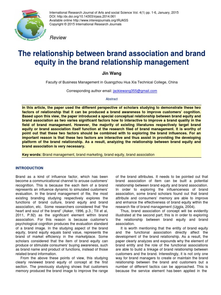 brand equity research paper