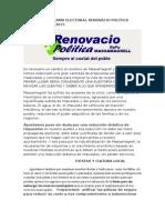 Programa Electoral Renovacio Política Massamagrell 2015