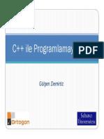 C++ Ders1 - Giris