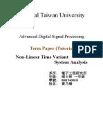 Non LTI System Analysis