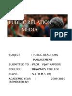 PUBLIC RELATION MEDIA