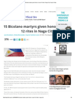 15 Bicolano Martyrs Given Honors in June 12 Rites in Naga City _ Inquirer News