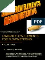 Laminar Flow Elements for Flow Metering