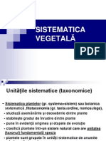 Sistematica Vegetala Botanica