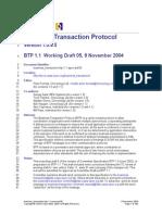 Business Transaction Btp 1.1 Spec Wd 05