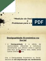 Trabalho economia II - Medição da desigualdade