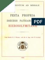 Almae Custidiae Terrae Sanctae, Supplementum Ad Missale@