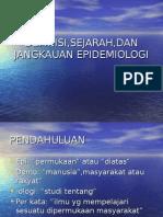 Definisi,Sejarah,Dan Jangkauan Epidemiologi (Bahan 1)