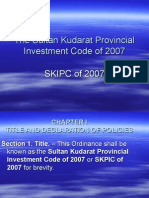 The Sultan Kudarat Provincial Investment Code of 2007