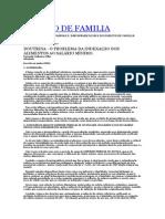 DIREITO DE FAMILIA - DOUTRINA - O PROBLEMA DA INDEXAÇÃO DOS ALIMENTOS AO SALÁRIO MÍNIMO..docx