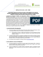 Edital Concurso Público IFMS