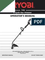 Ryobi Trimer Manual
